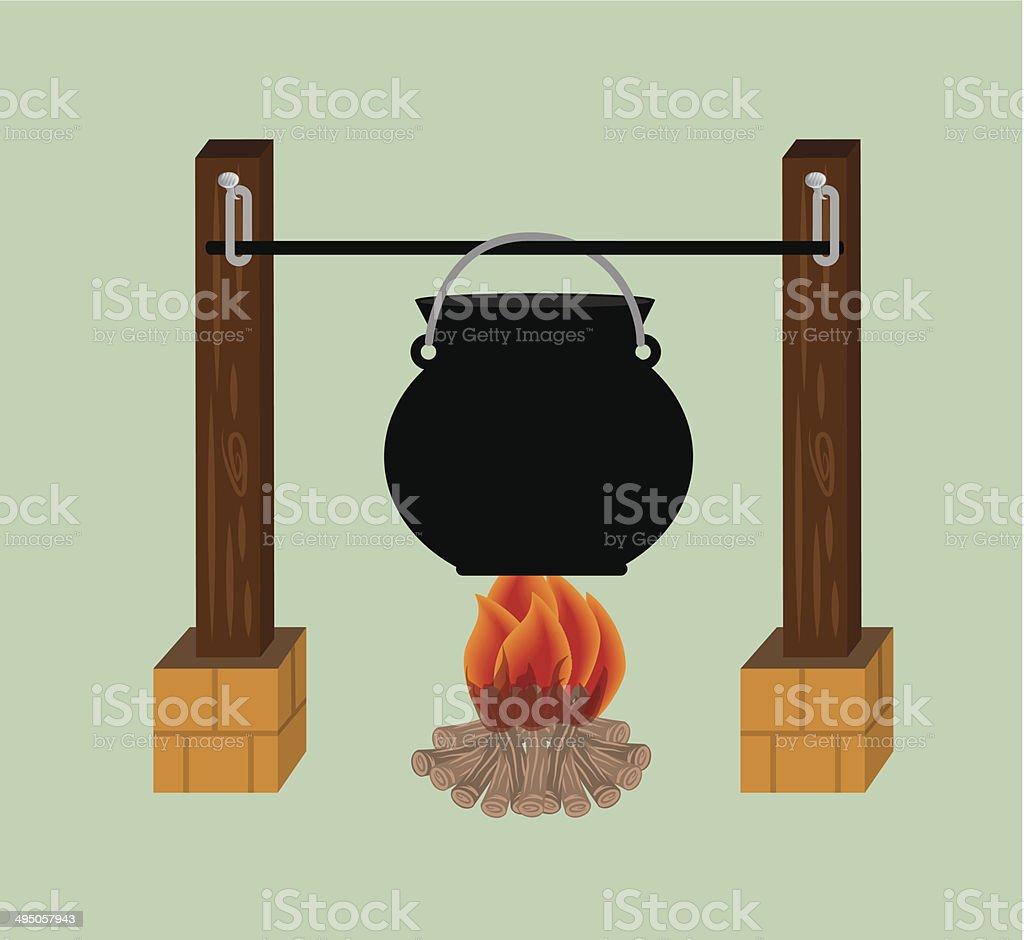 bonfire vector art illustration