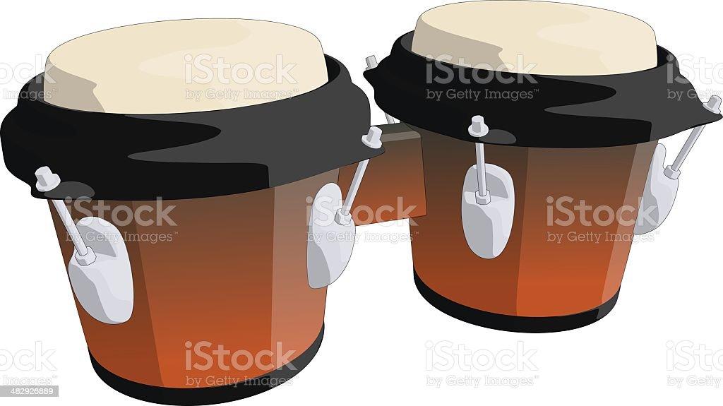 Bongo tambour stock vecteur libres de droits libre de droits