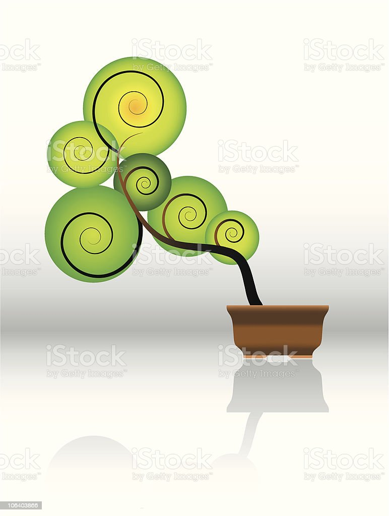 Bonsai Tree vector art illustration