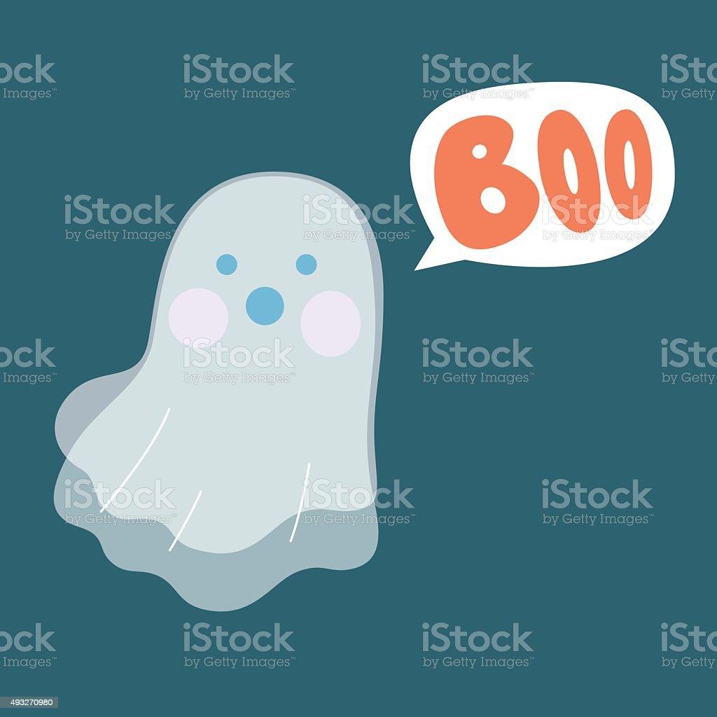 Boo Ghost vector art illustration