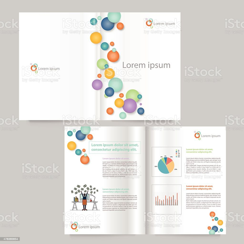 book and brochure template design.editable vector art illustration