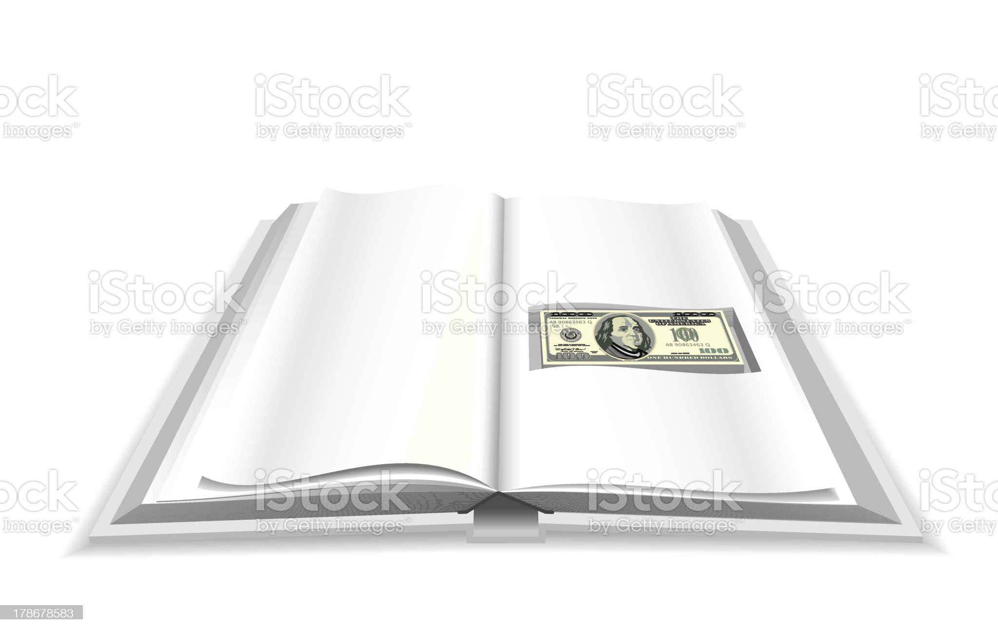 Book and money. royalty-free stock vector art