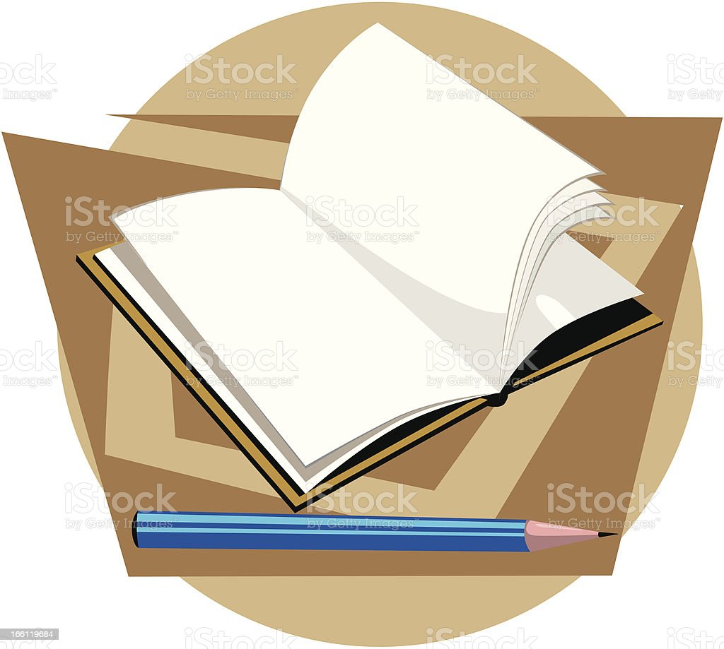 Book and pencil royalty-free stock vector art