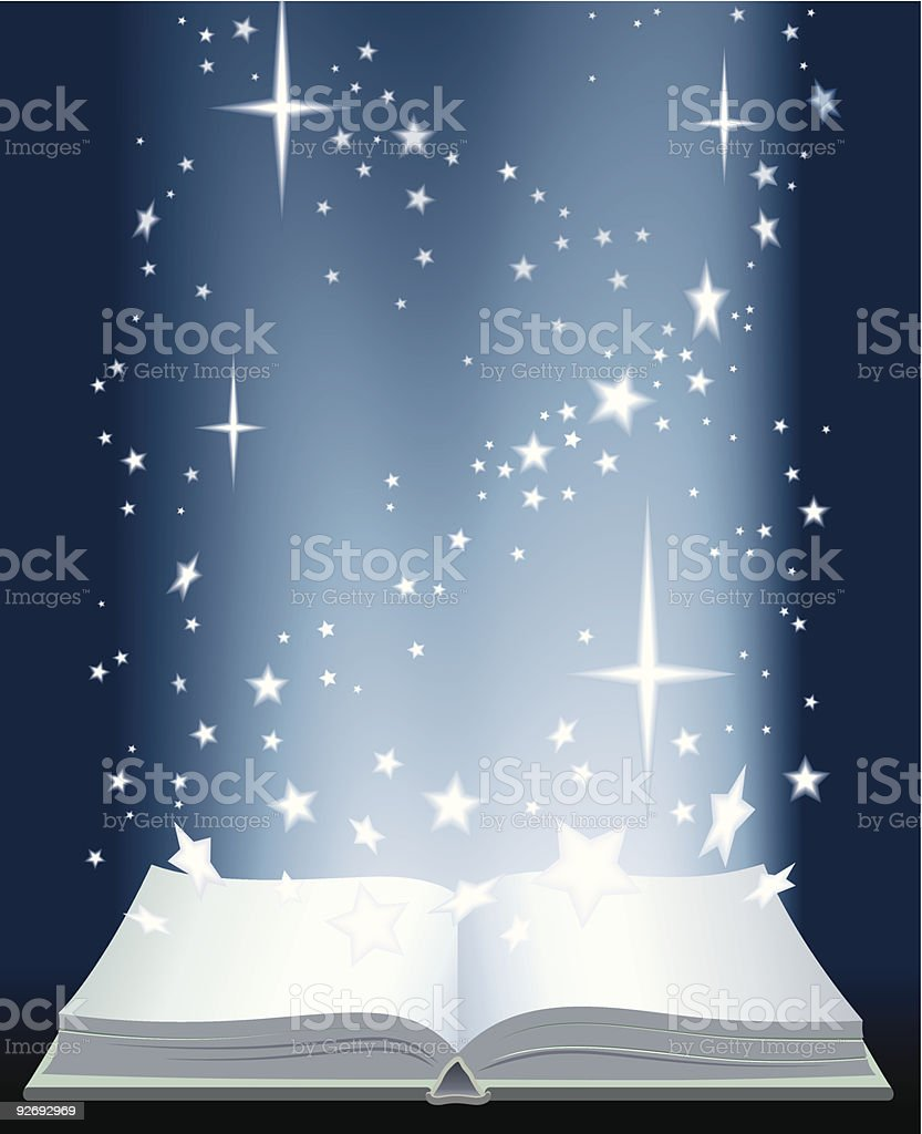 Book and shining stars royalty-free stock vector art