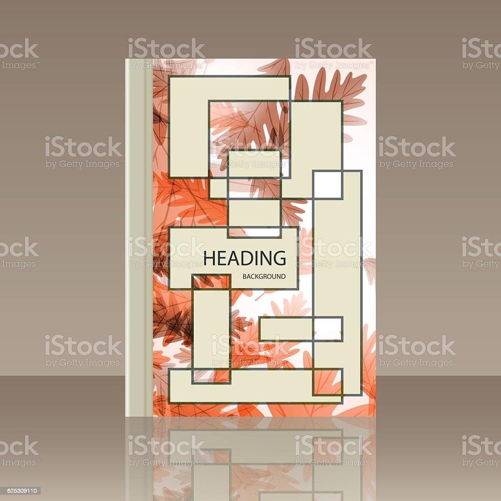 Book autumn motif. Oak leaves. Vector background vector art illustration
