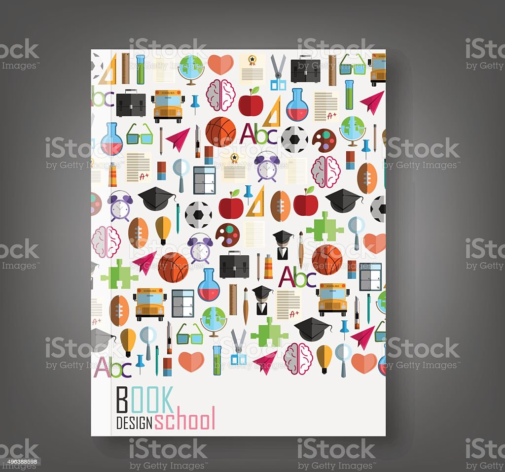 Book Back to School icon background, illustration vector. vector art illustration