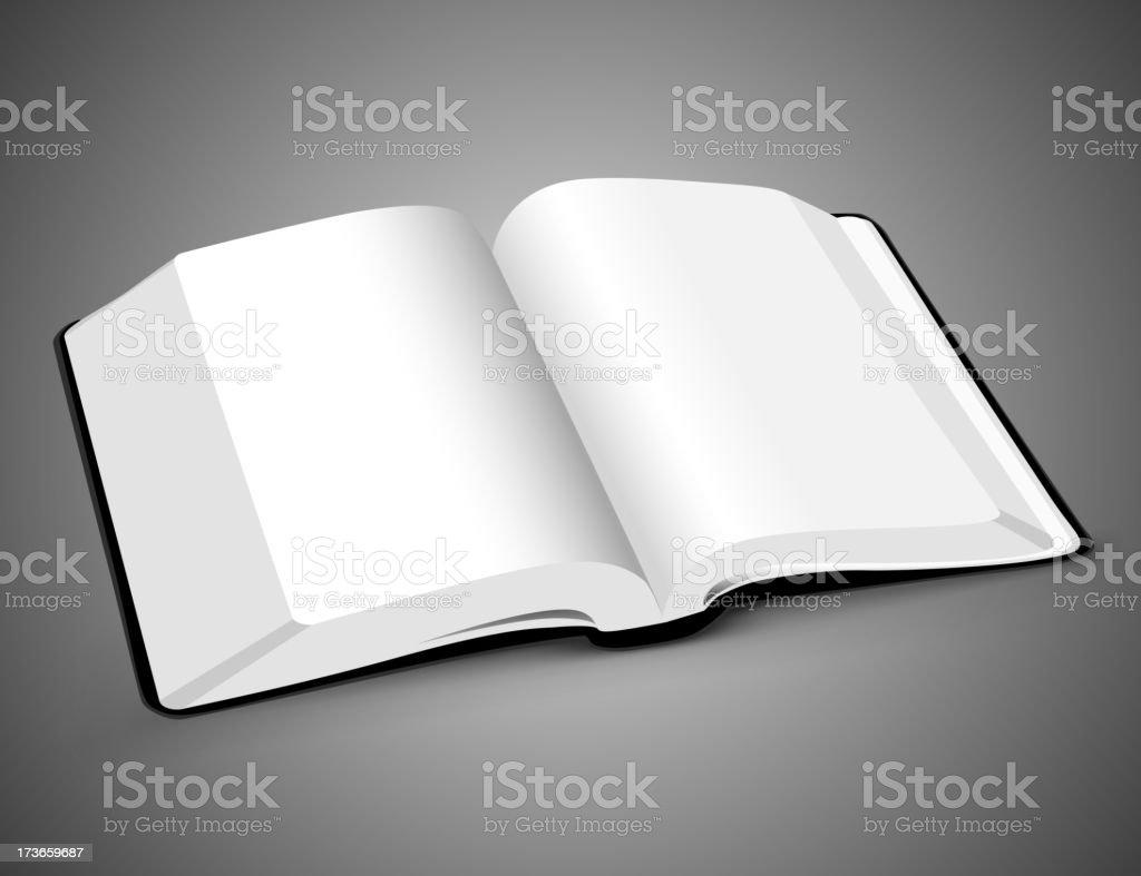 book big open royalty-free stock vector art