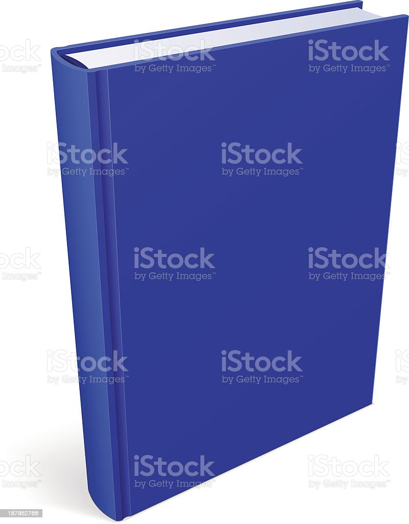 Book Blank Blue Cover royalty-free stock vector art