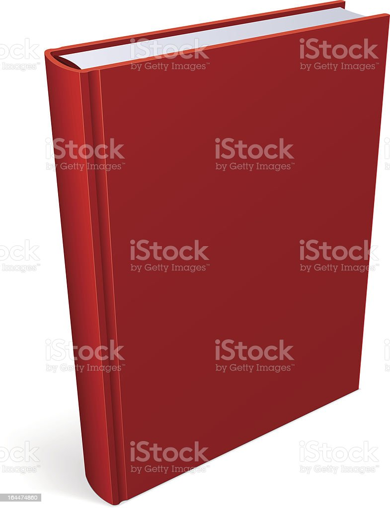 Book Blank Red Cover royalty-free stock vector art