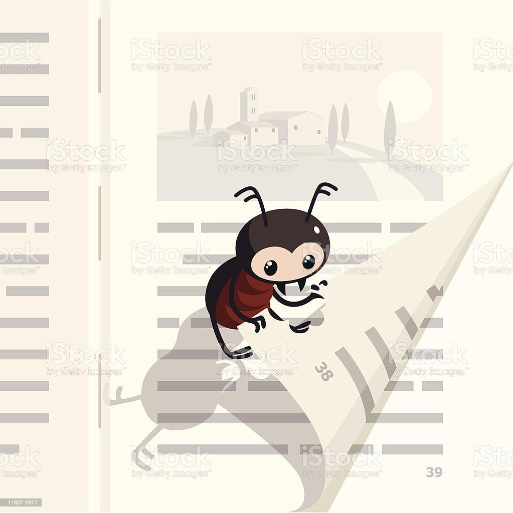 Book bug_one. vector art illustration