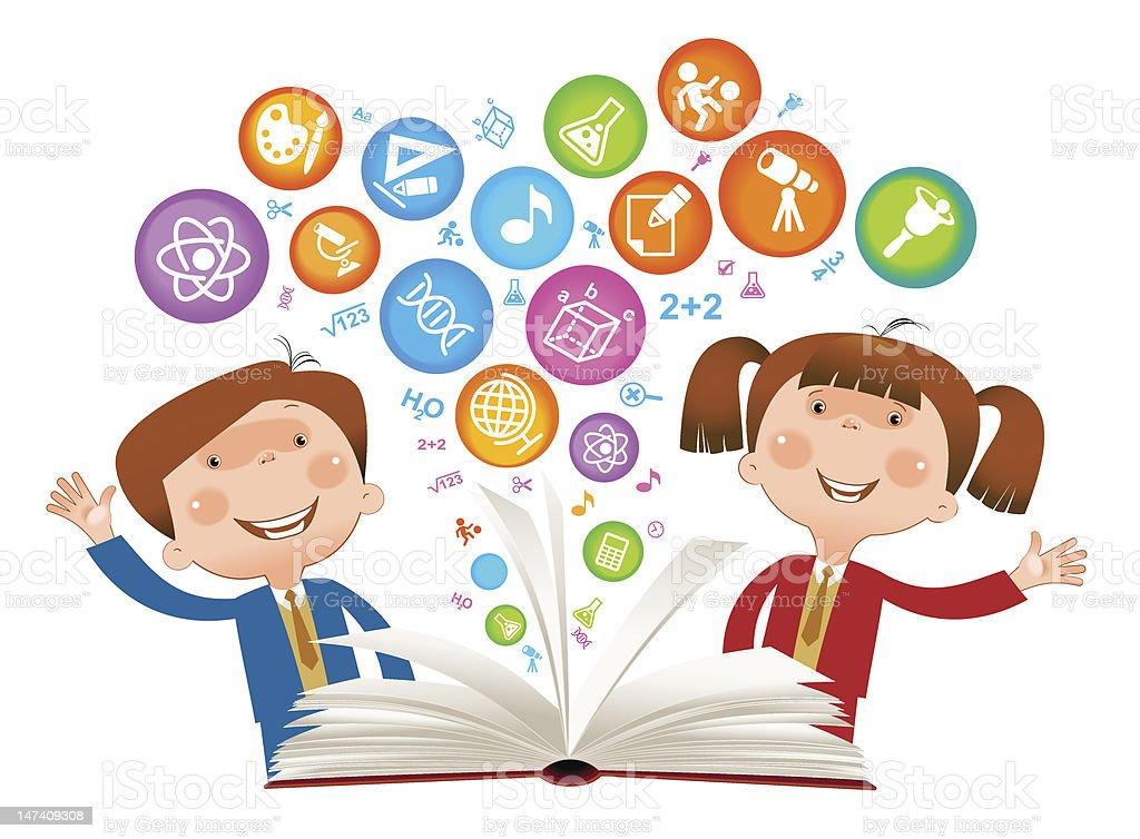 book Child sumbol royalty-free stock vector art