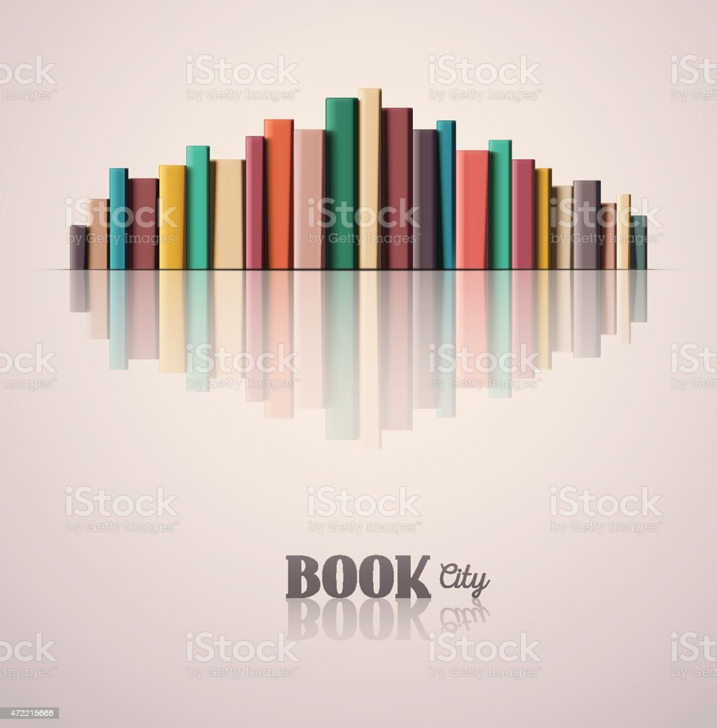 Book City vector art illustration