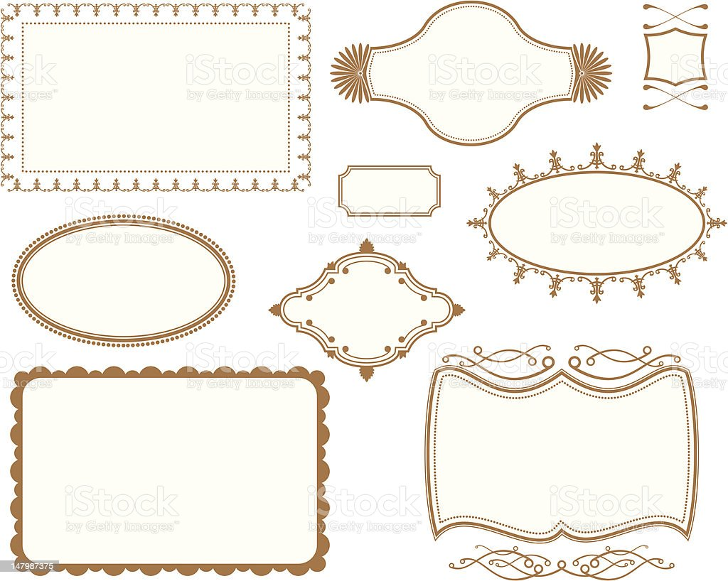 Book Cover Plates Frames Set royalty-free stock vector art