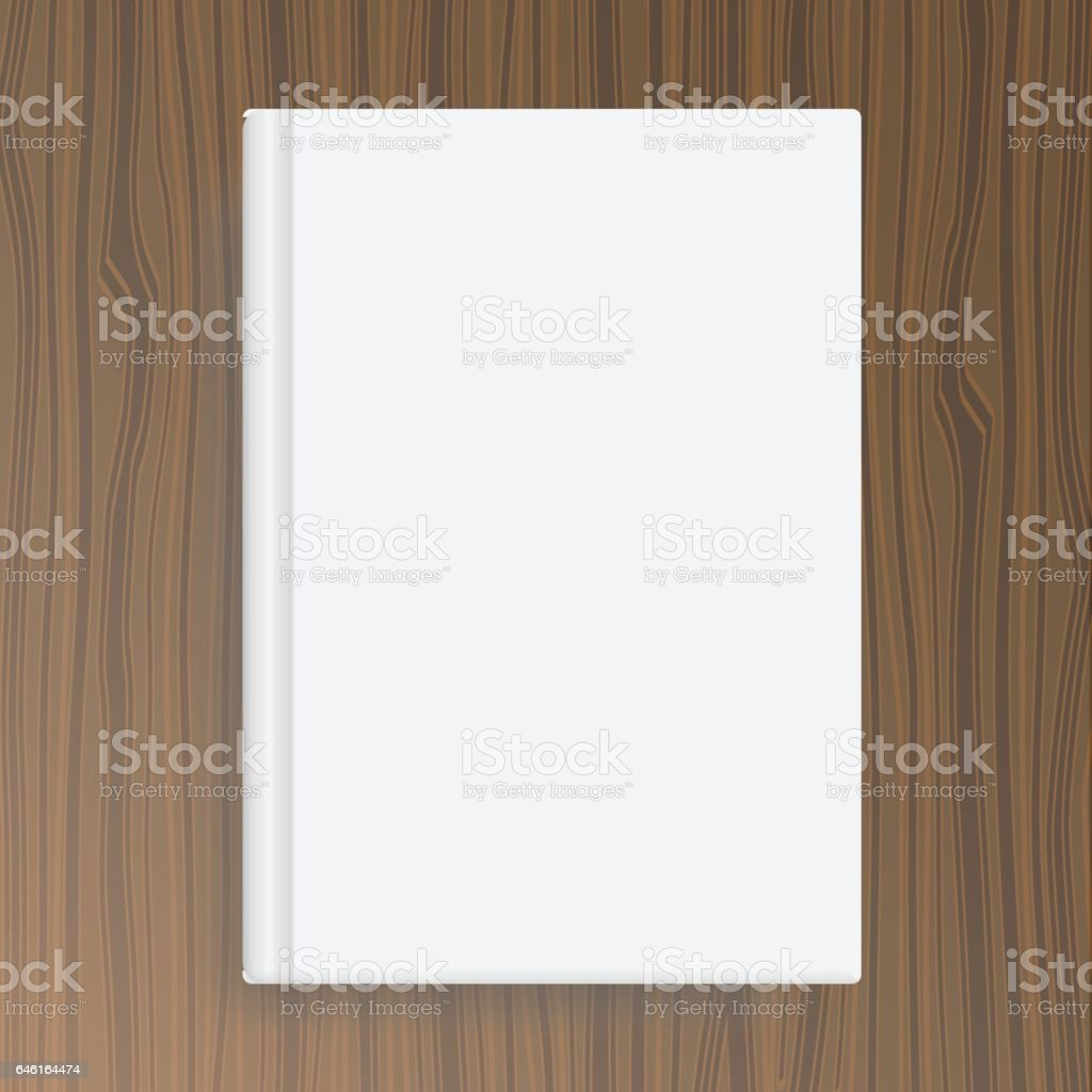 book cover template on wood texture table stock vector art 1 credit
