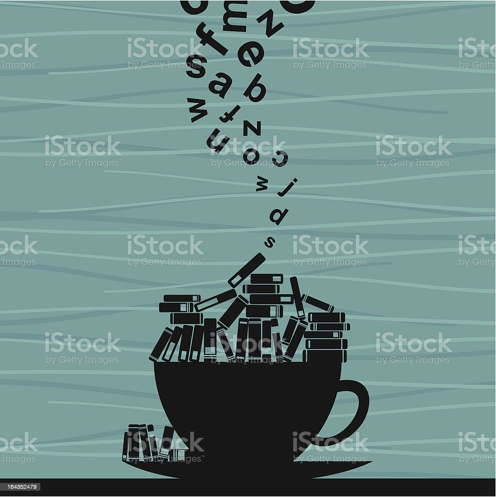 Book cup royalty-free stock vector art