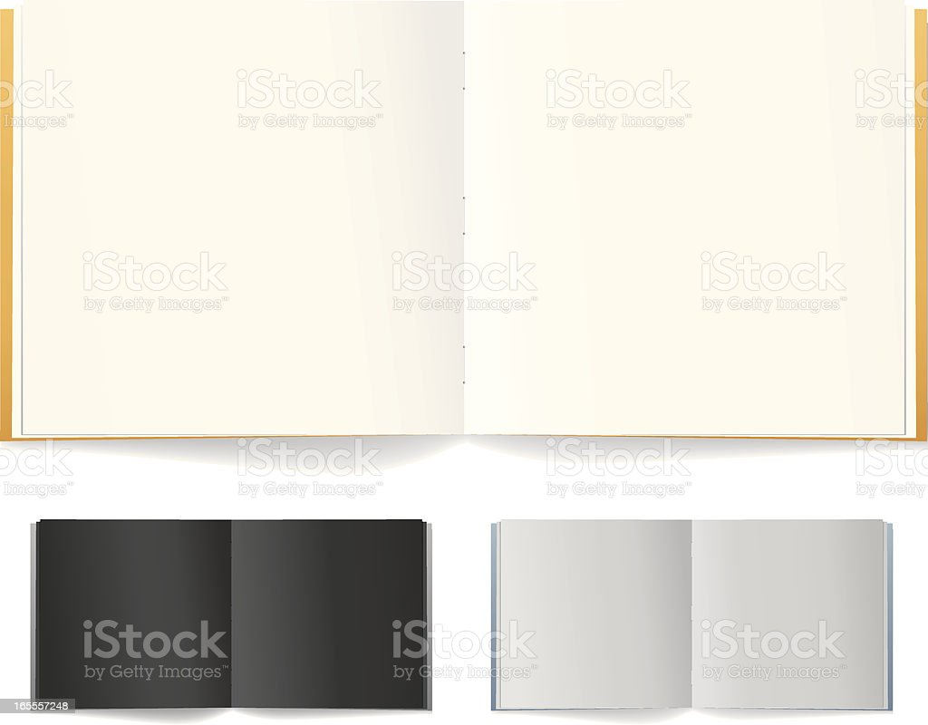 Book Empty Pages vector art illustration