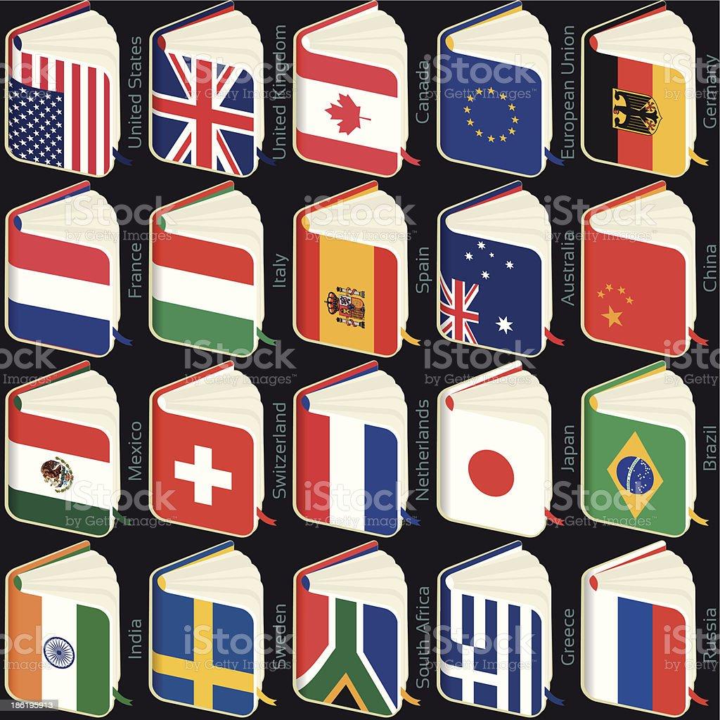 book flags popular royalty-free stock vector art