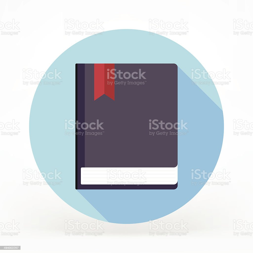 Book Flat Icon royalty-free stock vector art