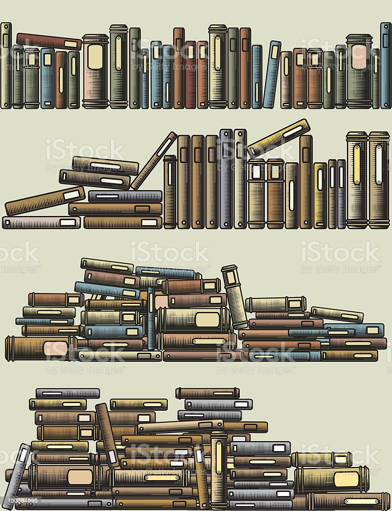 Book foregrounds royalty-free stock vector art