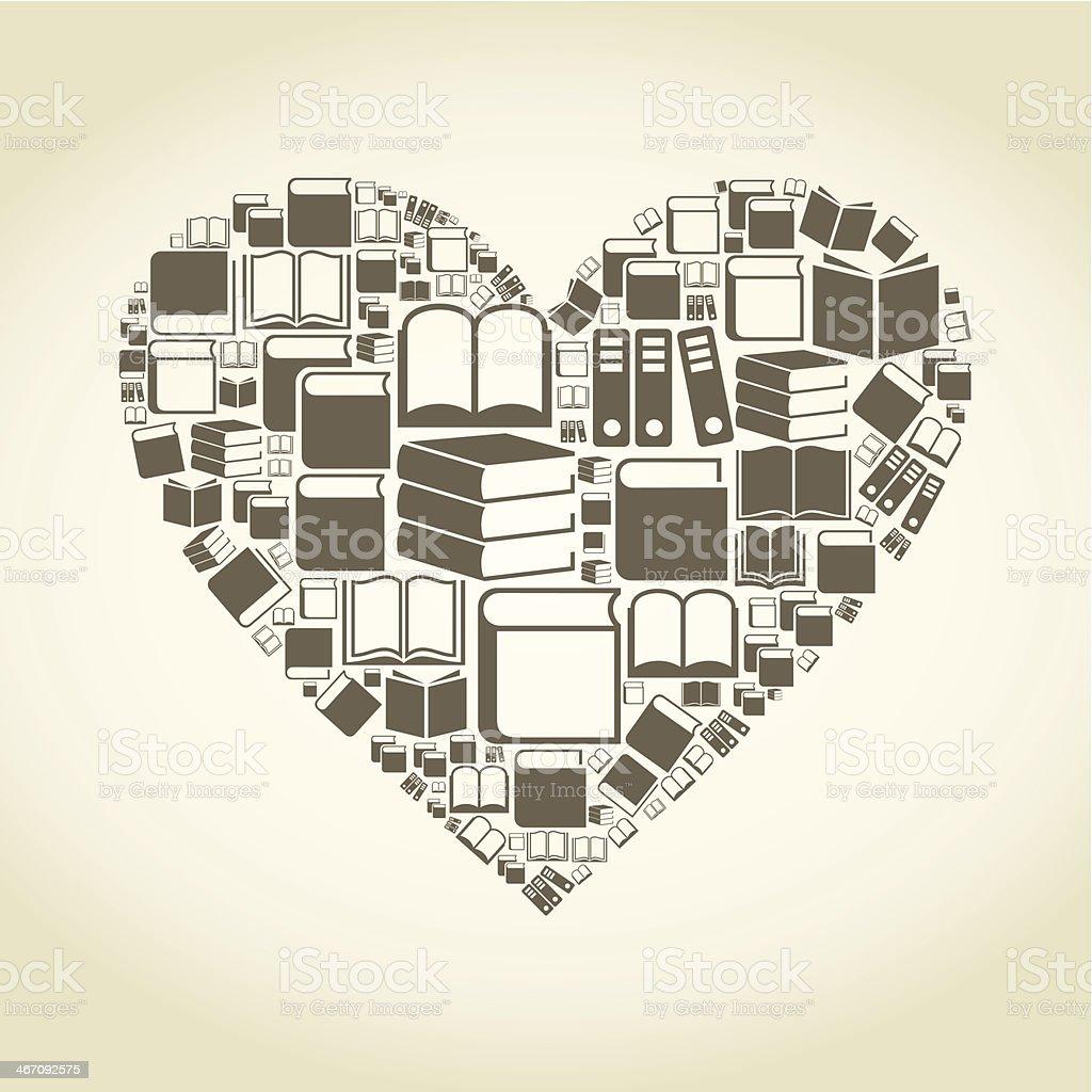 Book heart royalty-free stock vector art