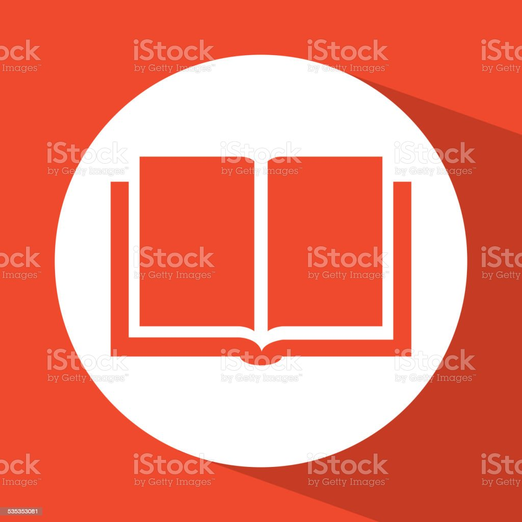 book icon design vector art illustration