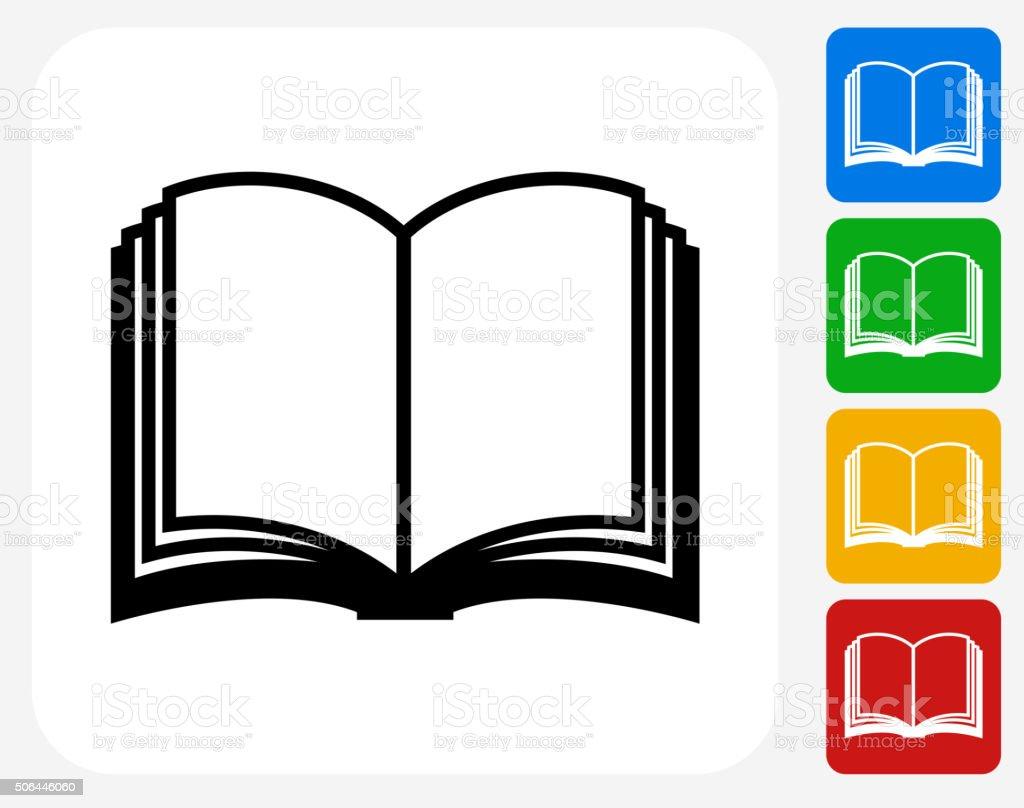 Book Icon Flat Graphic Design vector art illustration