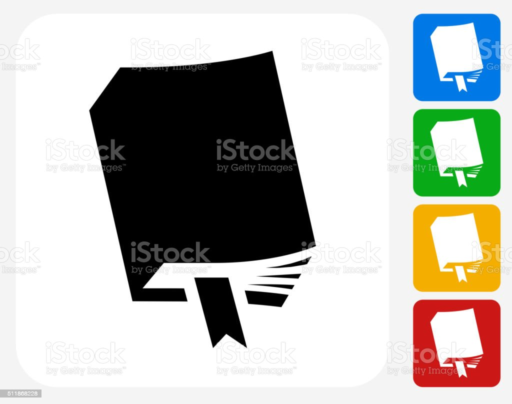 Book Icon Flat Graphic Design vector art illustration