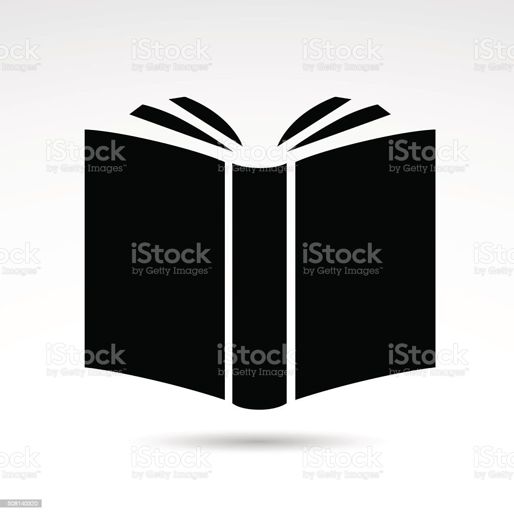 Book icon isolated on white background. vector art illustration