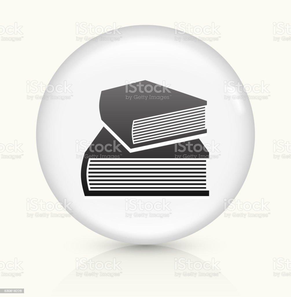Book icon on white round vector button vector art illustration
