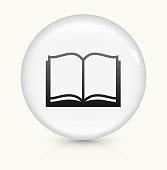 Book icon on white round vector button