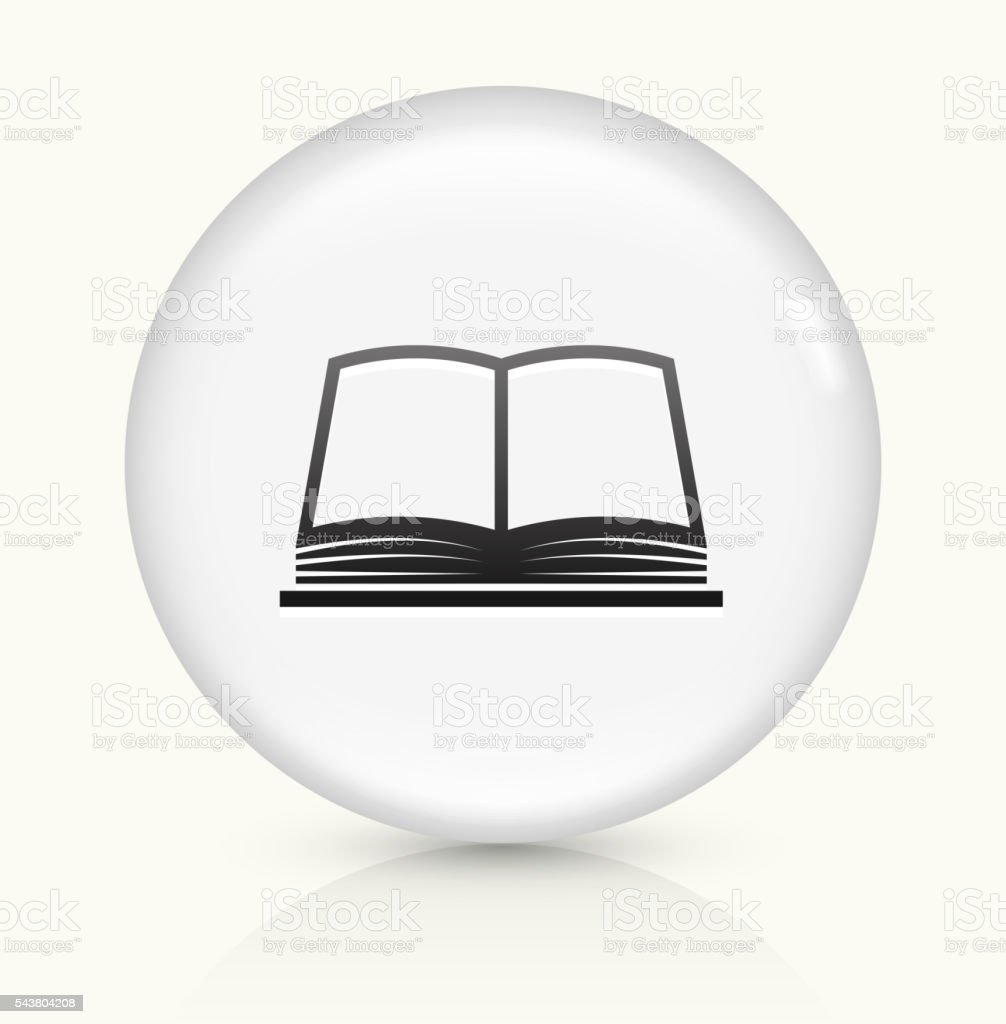 Book icon on white round vector button vector art illustration