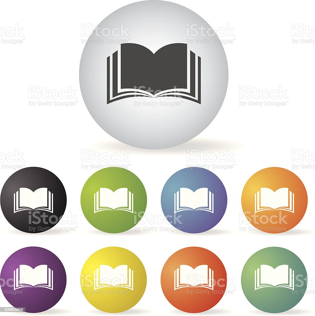 book icon set vector art illustration