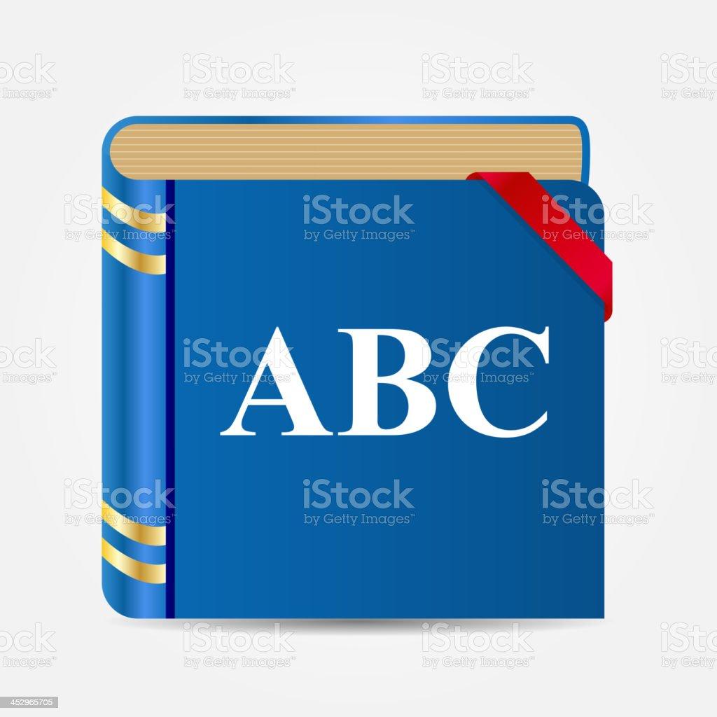 Book icon vector illustration royalty-free stock vector art