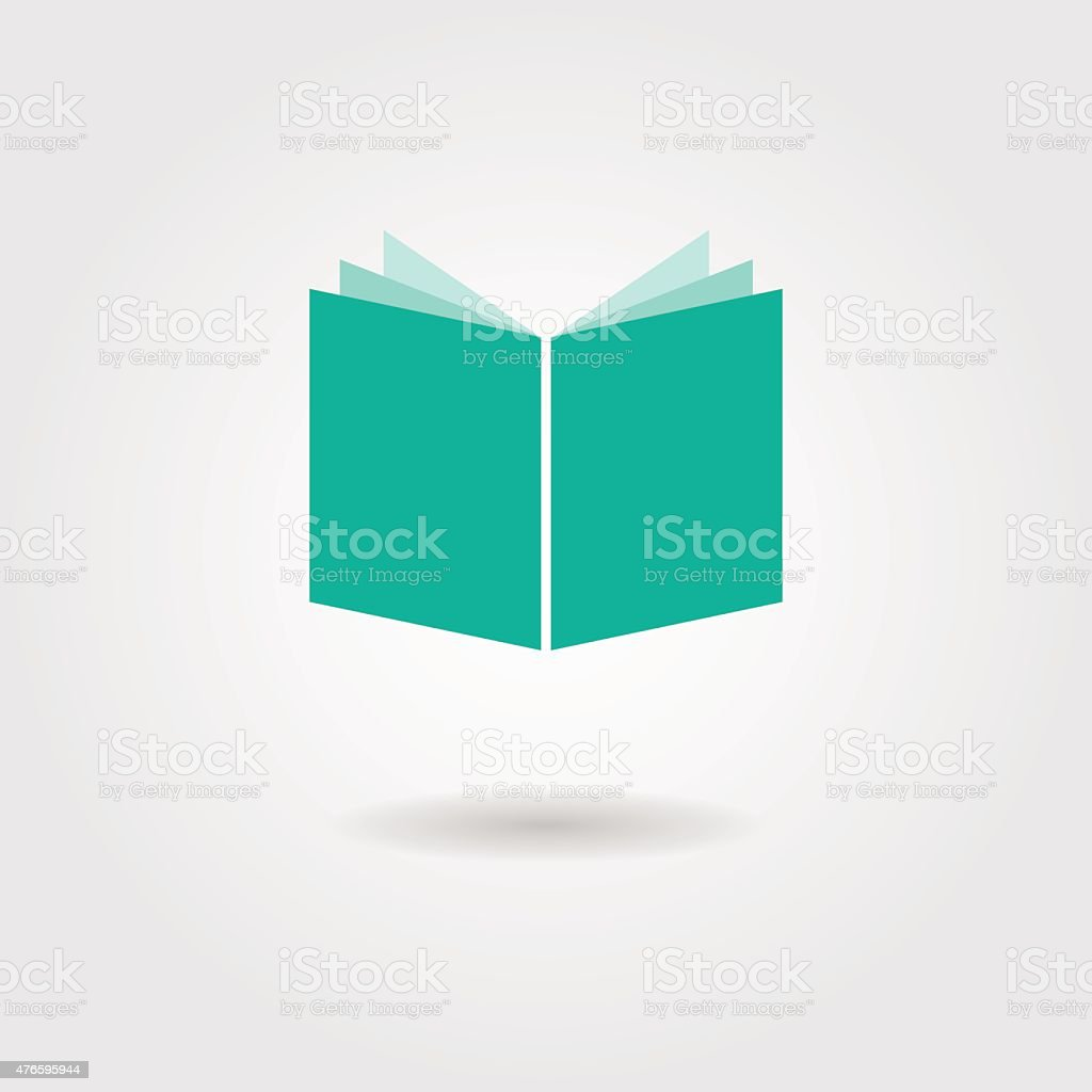 book icon with shadow vector art illustration