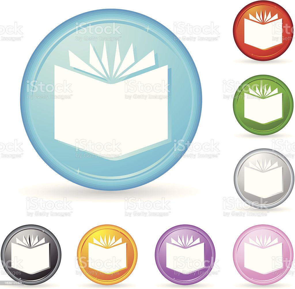 book icon with shiny buttons royalty-free stock vector art