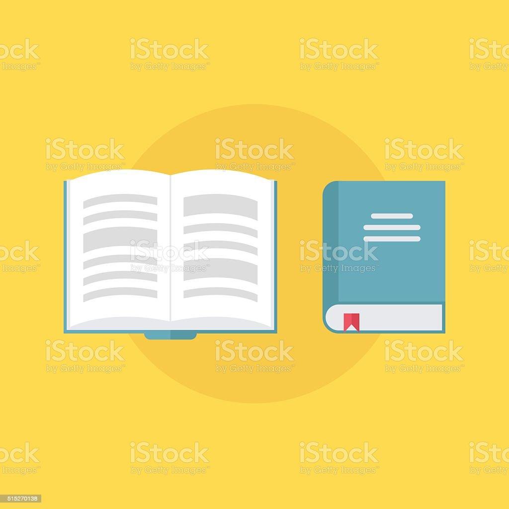 Book icons. Flat design style vector illustration. vector art illustration