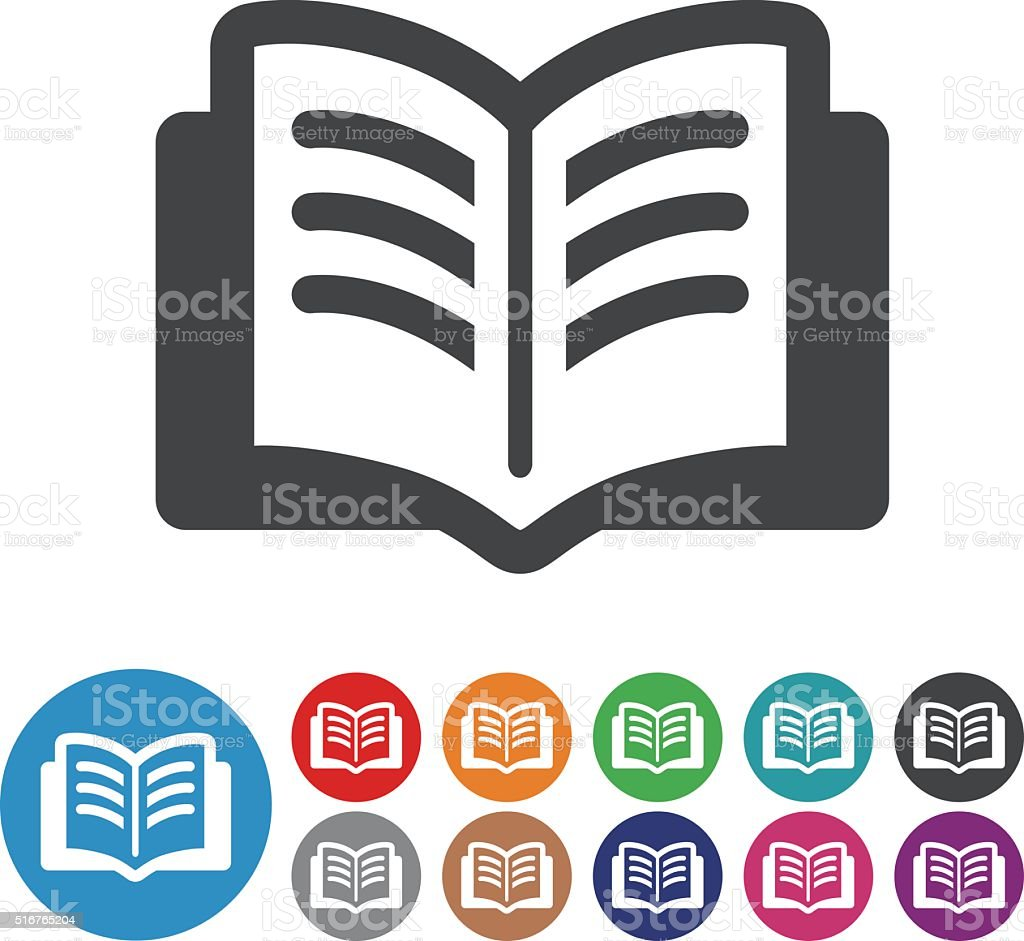 Book Icons - Graphic Icon Series vector art illustration