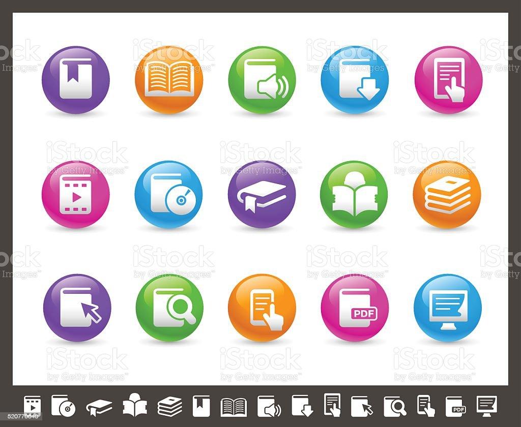 Book Icons - Rainbow Series vector art illustration