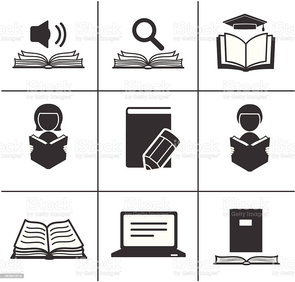Book icons. royalty-free stock vector art