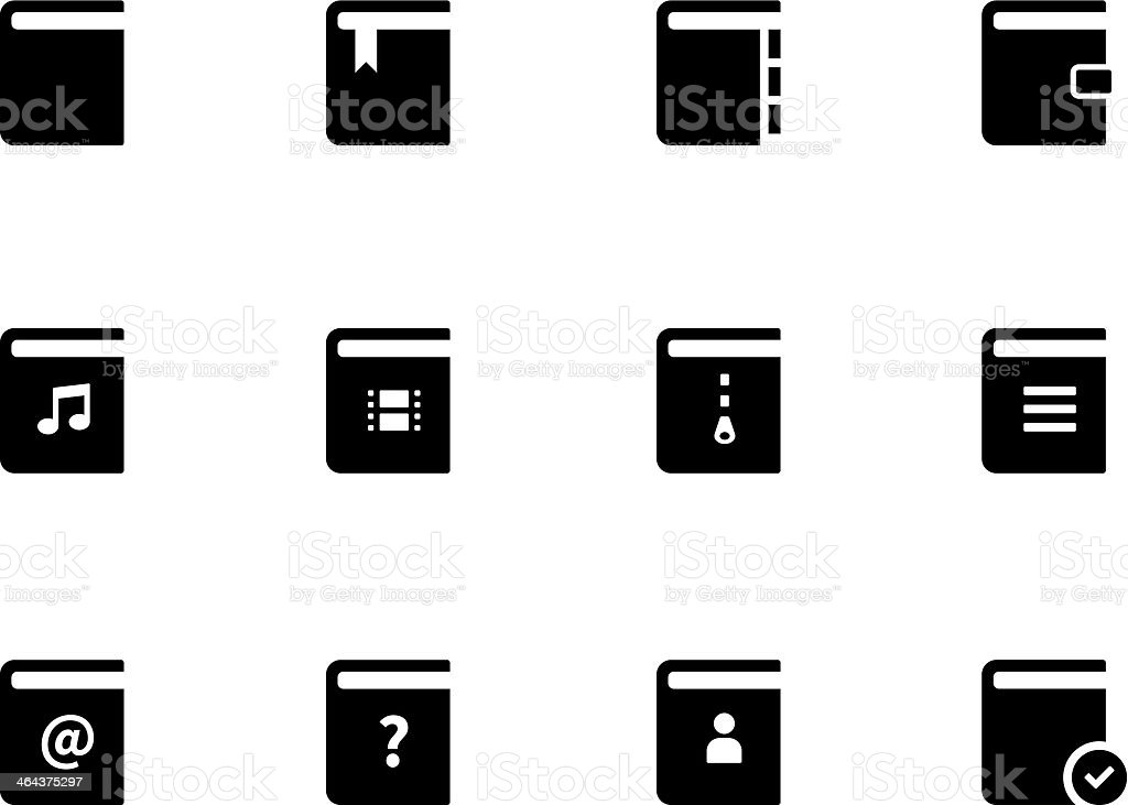 Book icons royalty-free stock vector art