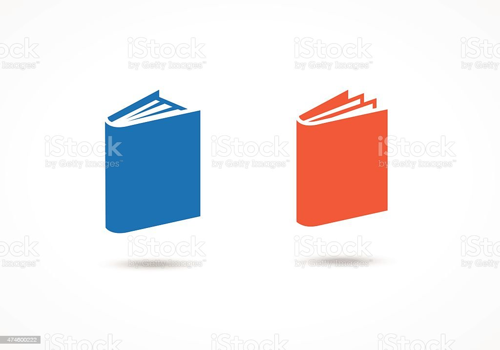 Book icons vector art illustration