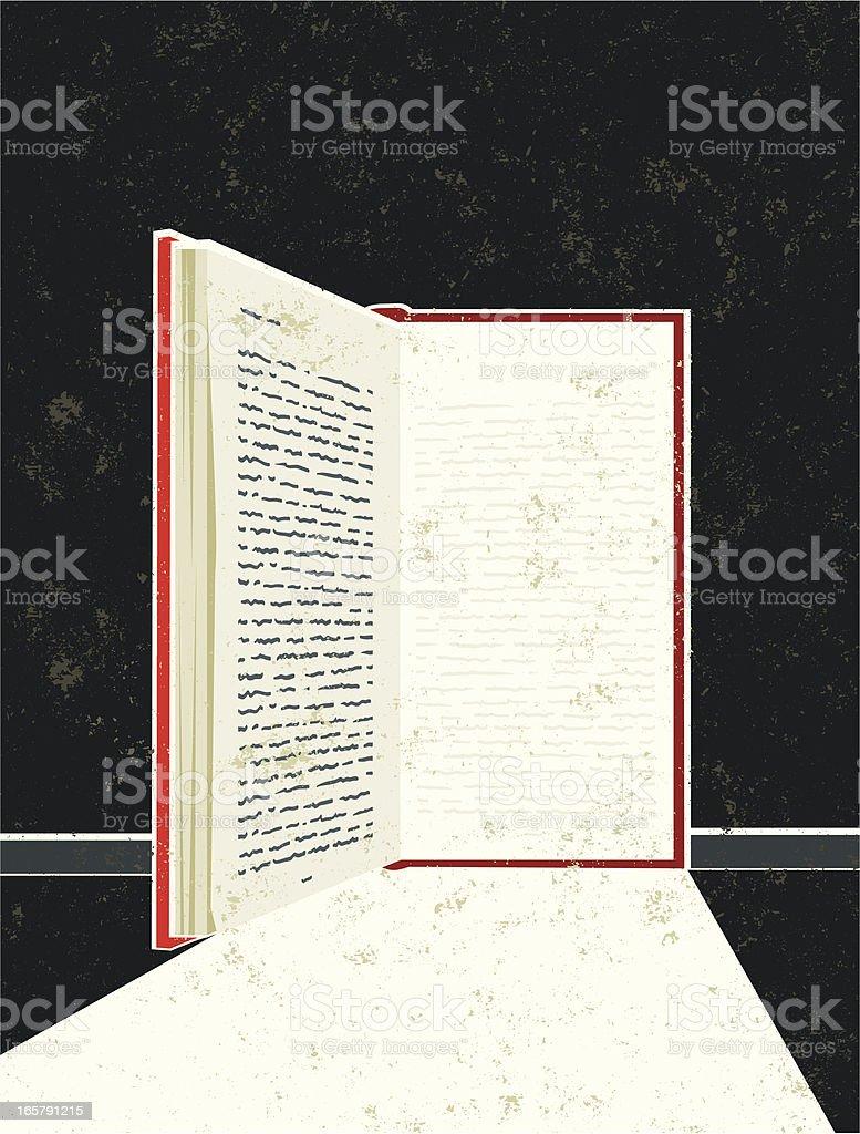 Book in the Shape of an Open Door royalty-free stock vector art