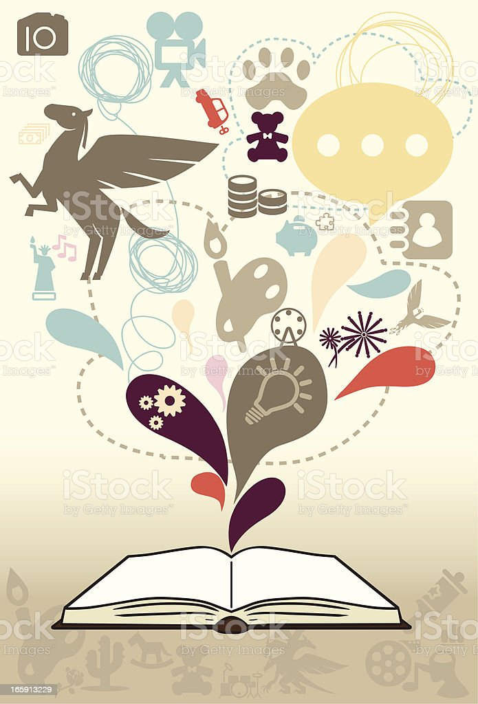 Book Make More Knowledge royalty-free stock vector art