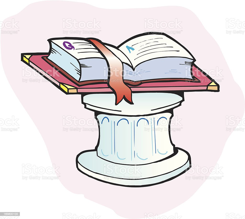 Book on Pedestal - Education royalty-free stock vector art
