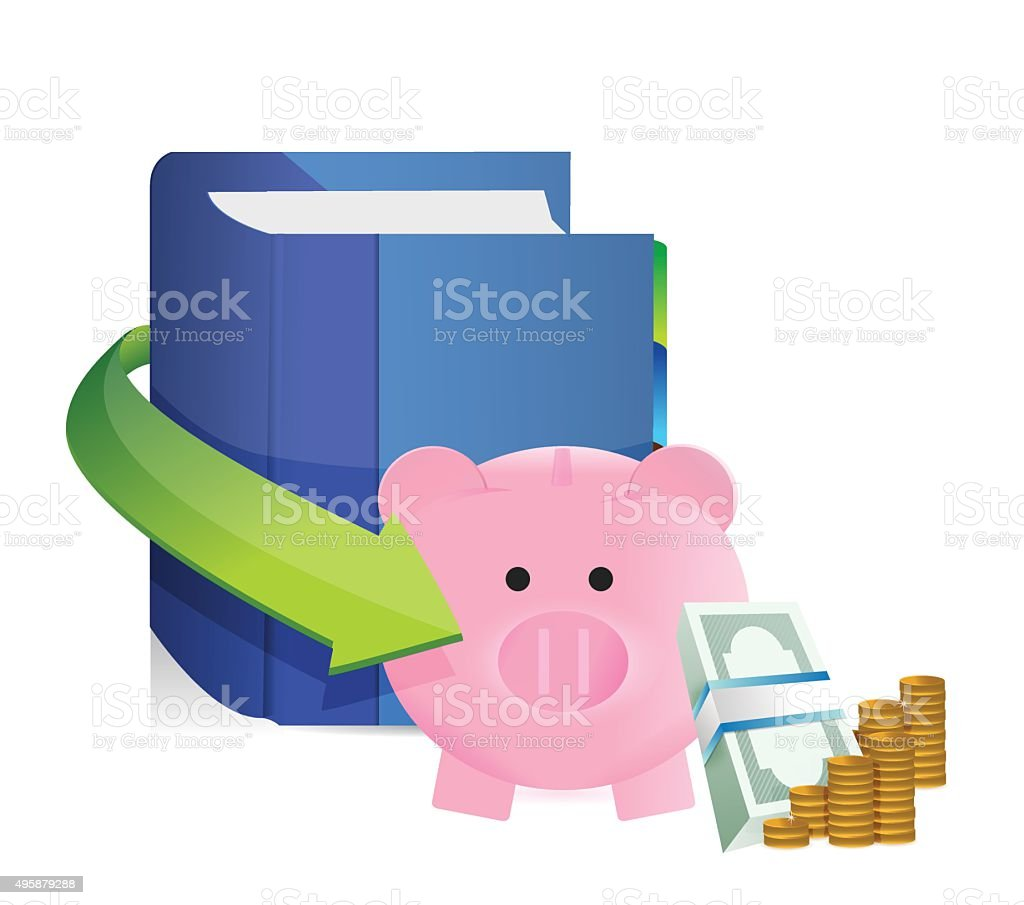 Book on savings vector art illustration