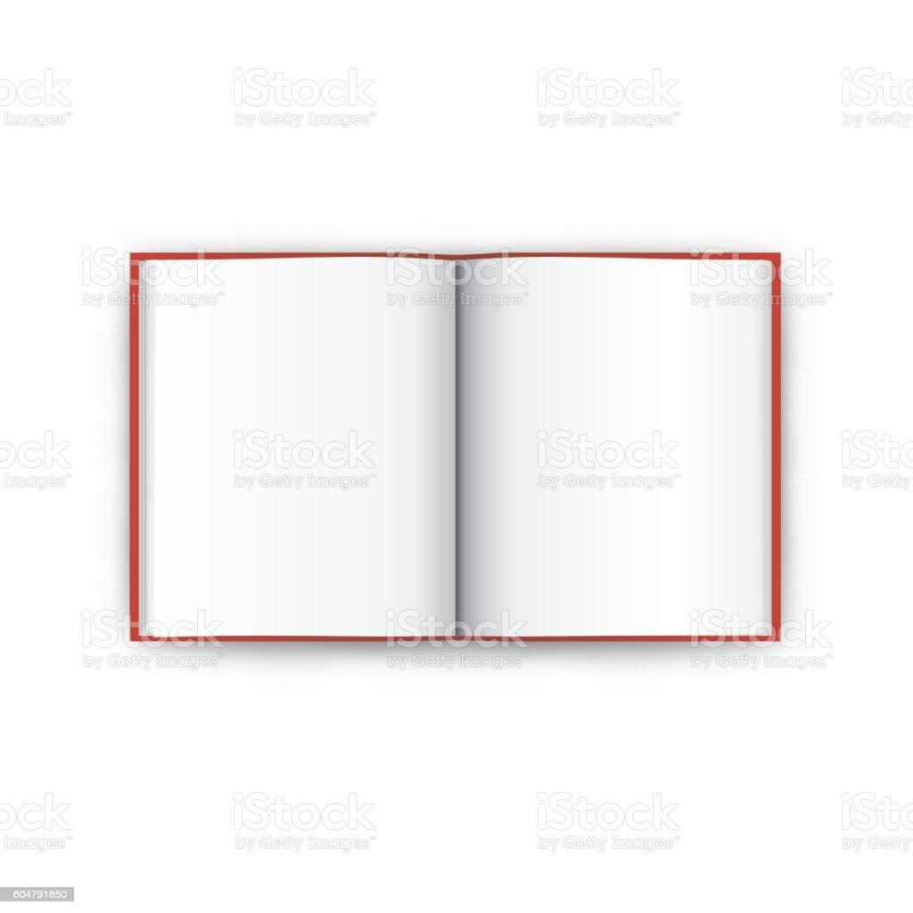 Book open top view vector vector art illustration
