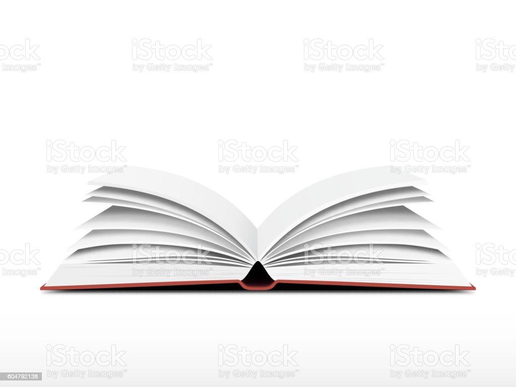 Book open vector vector art illustration