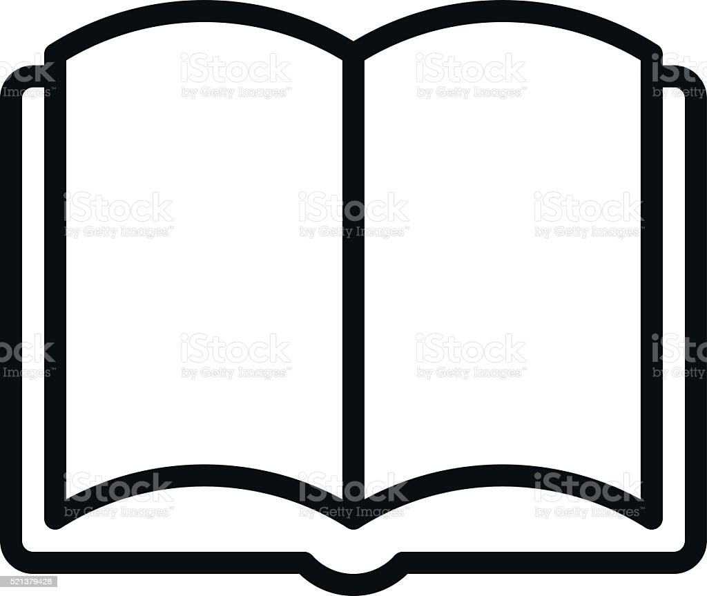 Book Outline Icon vector art illustration
