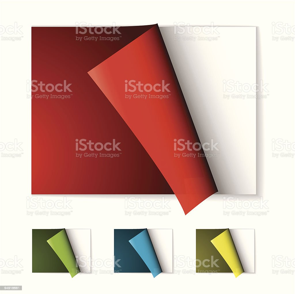 book page curl royalty-free stock vector art