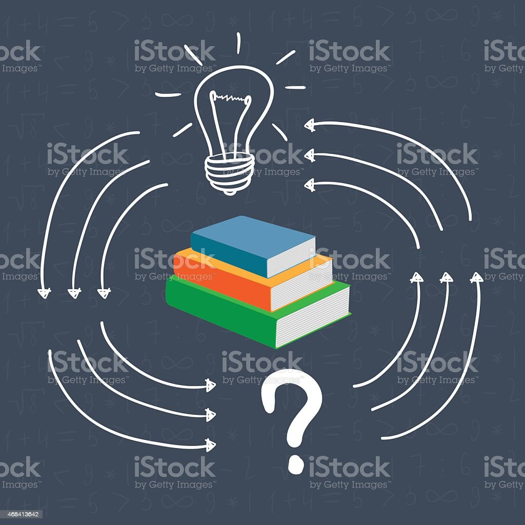 book provides an answer vector art illustration